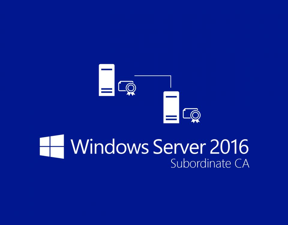 Server 2016 Subordinate CA Offline 960x750 - Установка сервера удалённых рабочих столов (Windows Server 2008 r2)