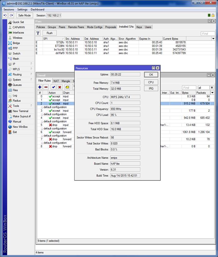 021417 0824 53 - Пошаговая инструкция по объединению сетей разных провайдеров с помощью L2TP и L2TP/IPSec на оборудовании Mikrotik