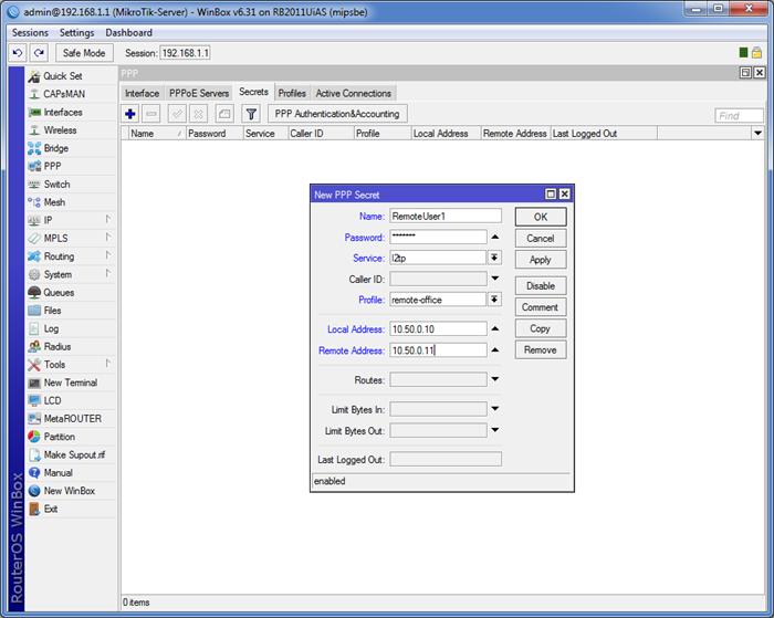 021417 0824 7 - Пошаговая инструкция по объединению сетей разных провайдеров с помощью L2TP и L2TP/IPSec на оборудовании Mikrotik
