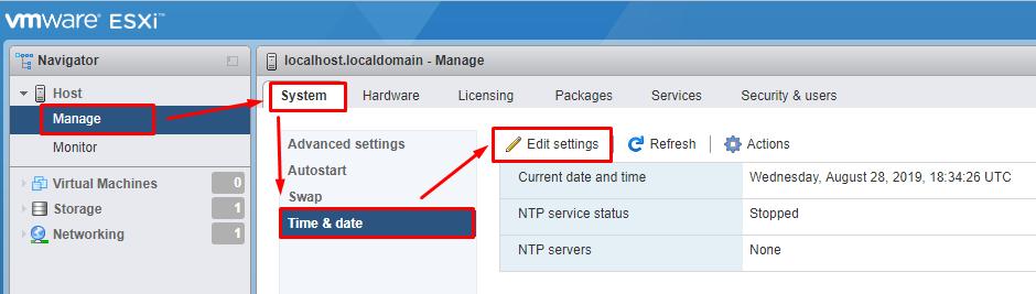Настройте NTP – сервер